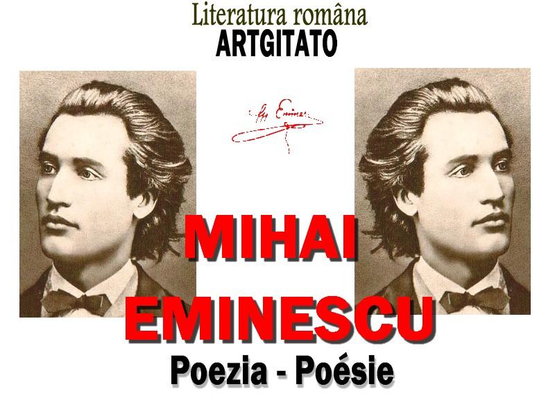 La Poésie de Mihai Eminescu - Poezia lui Mihai Eminescu Artgitato