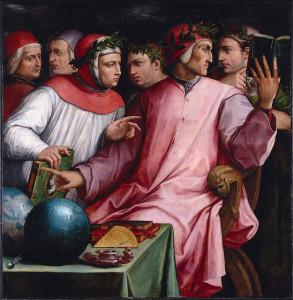 Dante Boccace Petrarque Guido Cavalvanti Cino da Pistoia Guittone dArezzo Trecento Italien 1544 Giorgio Vasari