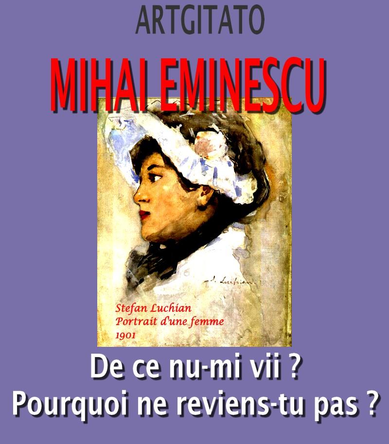 De ce nu-mi vii Mihai Eminescu Pourquoi ne reviens-tu pas Artgitato Stefan Luchian Portrait d'une femme 1901