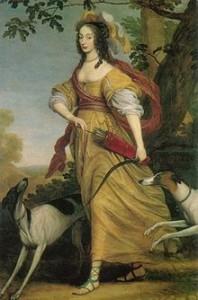 Diane Portrait de Louise henriette de Brandebourg
