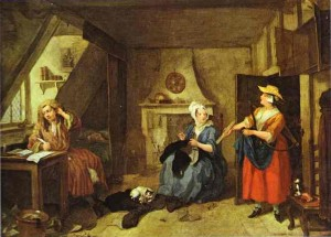 Le Poète en détresse William Hogarth 1736