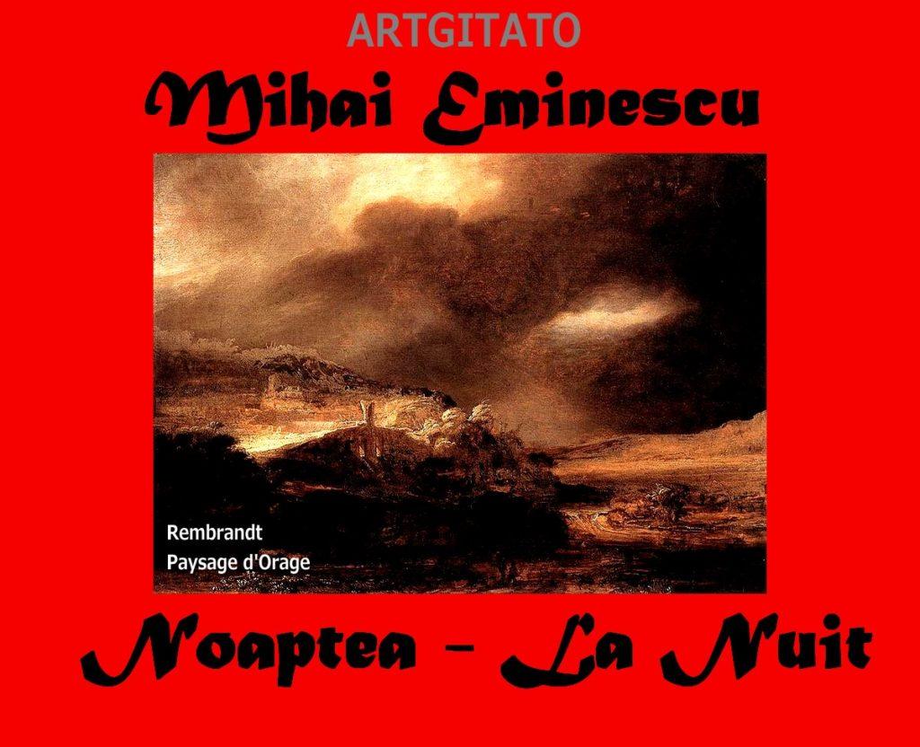 Noaptea La Nuit Mihai Eminescu Artgitato Rembrandt Paysage d'Orage