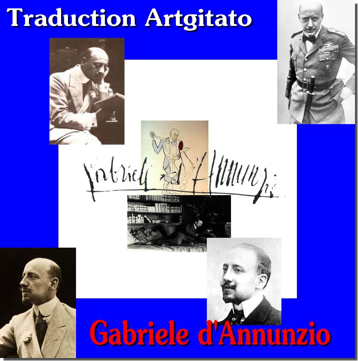Gabriele d'Annunzio Traduction Artgitato Proses et Poèmes Italiens