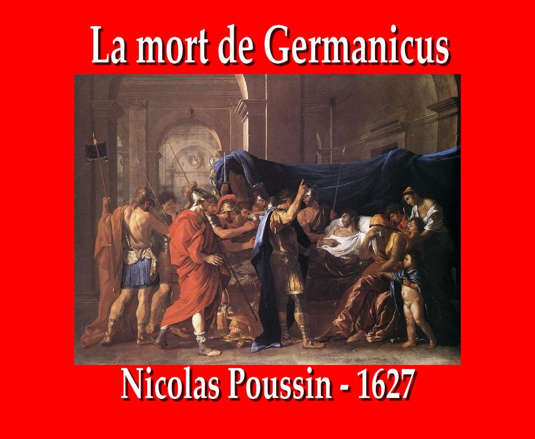 La Mort de Germanicus par Nicolas Poussin