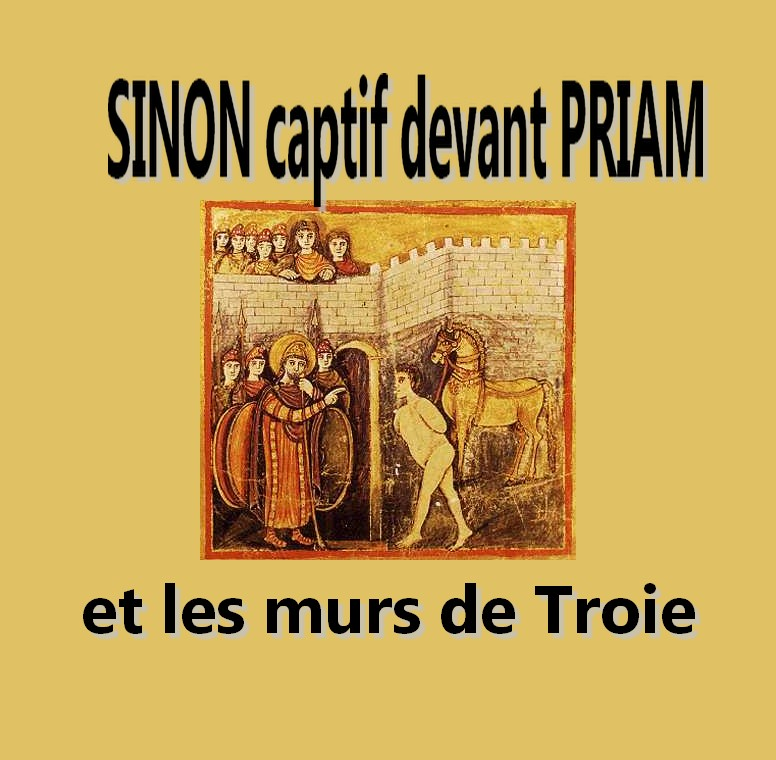RomanVirgile Sinon captif devant Priam et les murs de Troie