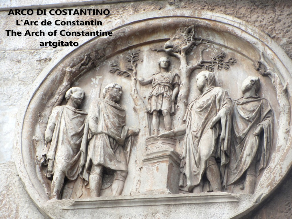 ARCO DI COSTANTINO Arc de Constantin The Arch of Constantine artgitato 1
