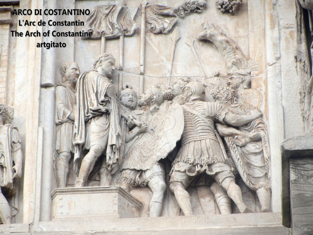 ARCO DI COSTANTINO Arc de Constantin The Arch of Constantine artgitato 10