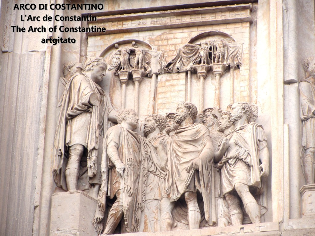 ARCO DI COSTANTINO Arc de Constantin The Arch of Constantine artgitato 2