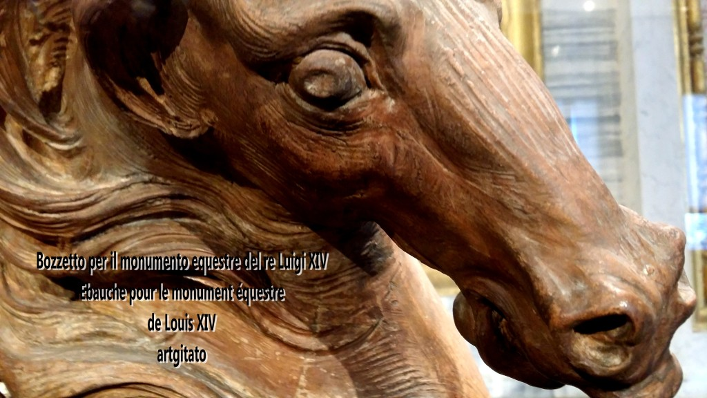 Bozzetto per il monumento equestre del re Luigi XIV Monument équestre de Louis XIV artgitato Bernino Le Bernin 1