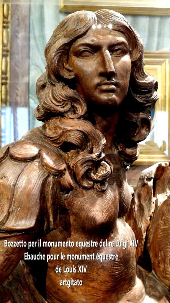 Bozzetto per il monumento equestre del re Luigi XIV Monument équestre de Louis XIV artgitato Bernino Le Bernin 3