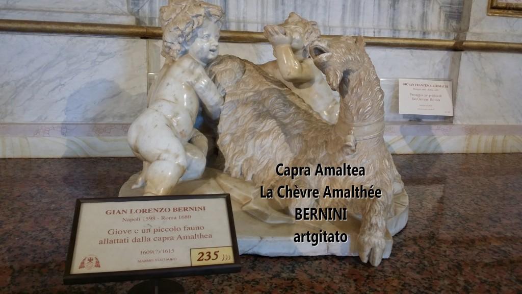 Capra almatea la chèvre amalthée Le Bernin Bernini Galerie Borghese Galleria Borghese artgitato 0