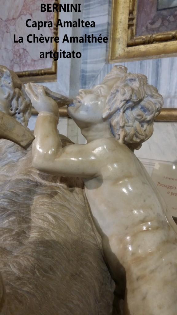Capra almatea la chèvre amalthée Le Bernin Bernini Galerie Borghese Galleria Borghese artgitato 1