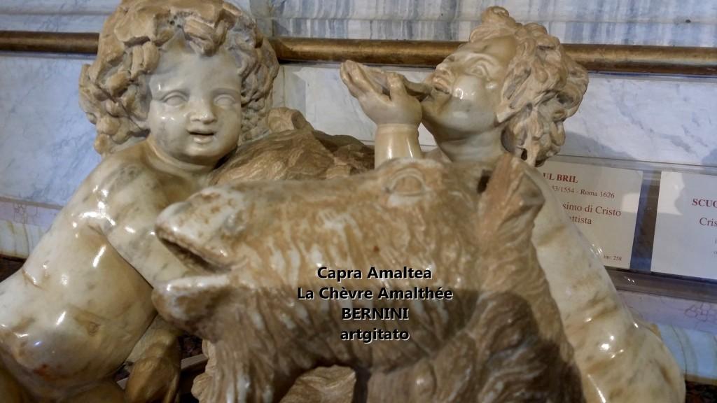 Capra almatea la chèvre amalthée Le Bernin Bernini Galerie Borghese Galleria Borghese artgitato 3