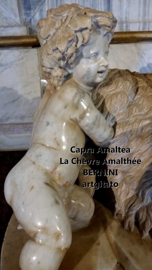 Capra almatea la chèvre amalthée Le Bernin Bernini Galerie Borghese Galleria Borghese artgitato 4