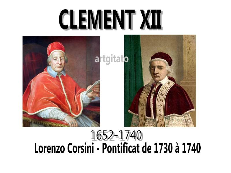 Clement XII Corsini Pape Fontaine de Trevi artgitato Piazza di Trevi Fontana di Trevi