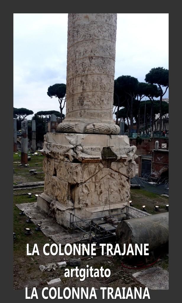 Colonne Trajane - La Colonna Traiana artgitato Roma Rome 3