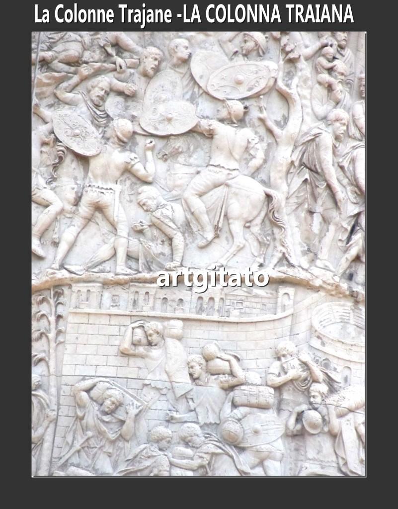 Colonne Trajane - La Colonna Traiana artgitato Roma Rome 5