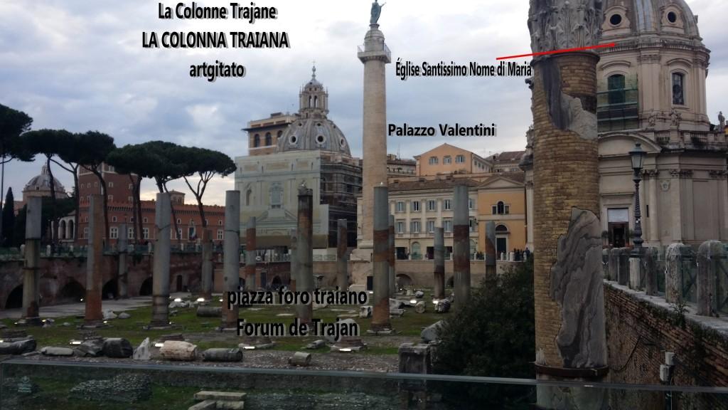 Colonne Trajane - La Colonna Traiana artgitato Roma Rome 7