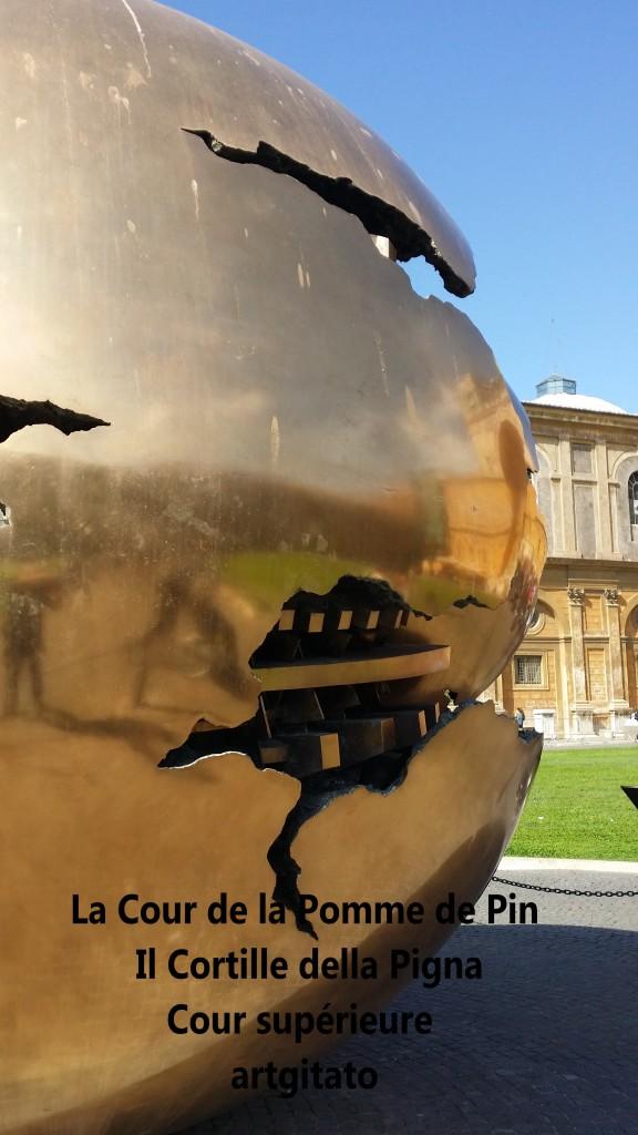 Cortille della Pigna La Cour de la Pomme de Pin Vatican Musei Vaticani artgitato 1