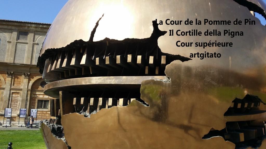 Cortille della Pigna La Cour de la Pomme de Pin Vatican Musei Vaticani artgitato 2