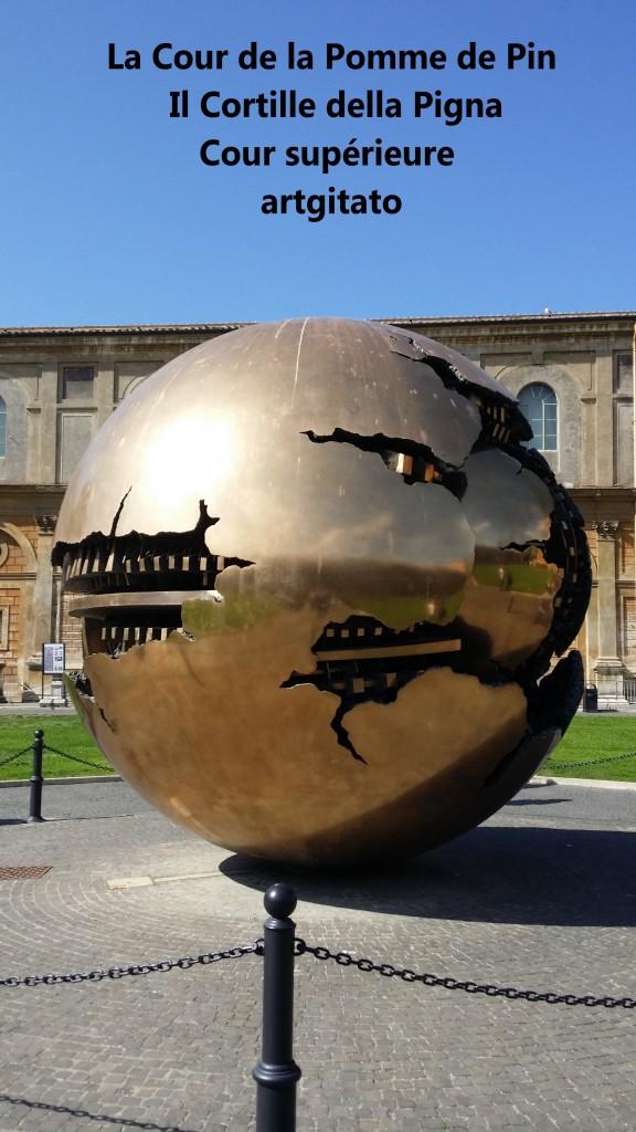 Cortille della Pigna La Cour de la Pomme de Pin Vatican Musei Vaticani artgitato 3
