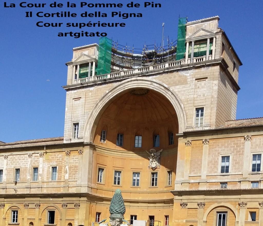 Cortille della Pigna La Cour de la Pomme de Pin Vatican Musei Vaticani artgitato 4