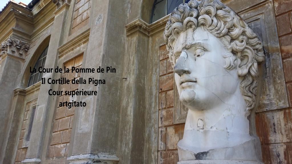 Cortille della Pigna La Cour de la Pomme de Pin Vatican Musei Vaticani artgitato 5