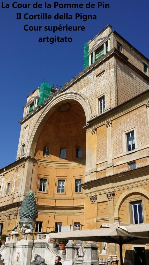 Cortille della Pigna La Cour de la Pomme de Pin Vatican Musei Vaticani artgitato 7