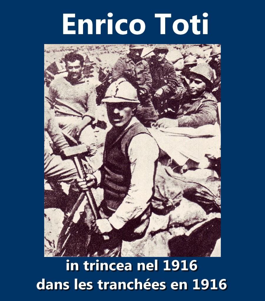 Enrico Toti in trincea nel 1916 dans les tranchées Villa Borghese 1916