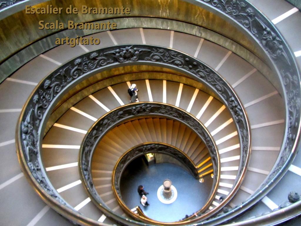 Escalier de Bramante Scala Bramante Musées du Vatican Musei Vatican artgitato 1