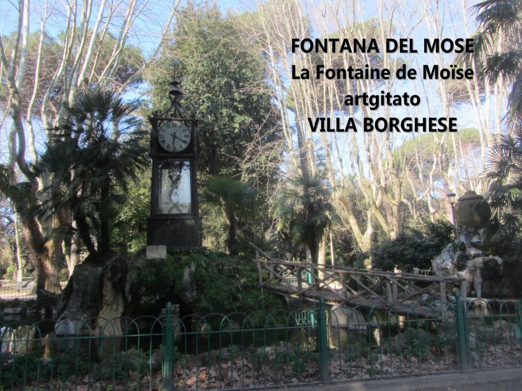 Fontana del Mose - Fontaine de Moïse - Villa Borghese - artgitato