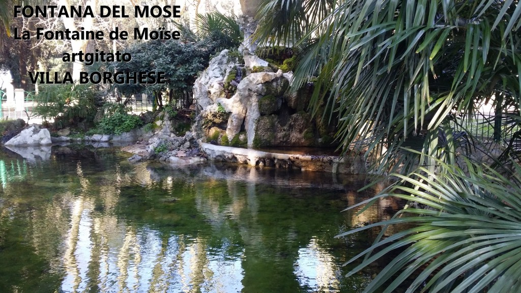 Fontana del Mose - Fontaine de Moïse - Villa Borghese - artgitato 2