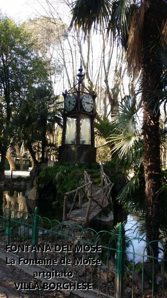 Fontana del Mose - Fontaine de Moïse - Villa Borghese - artgitato 3