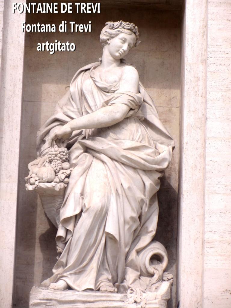 Fontana di Trevi Fontaine de Trevi artgitato 1