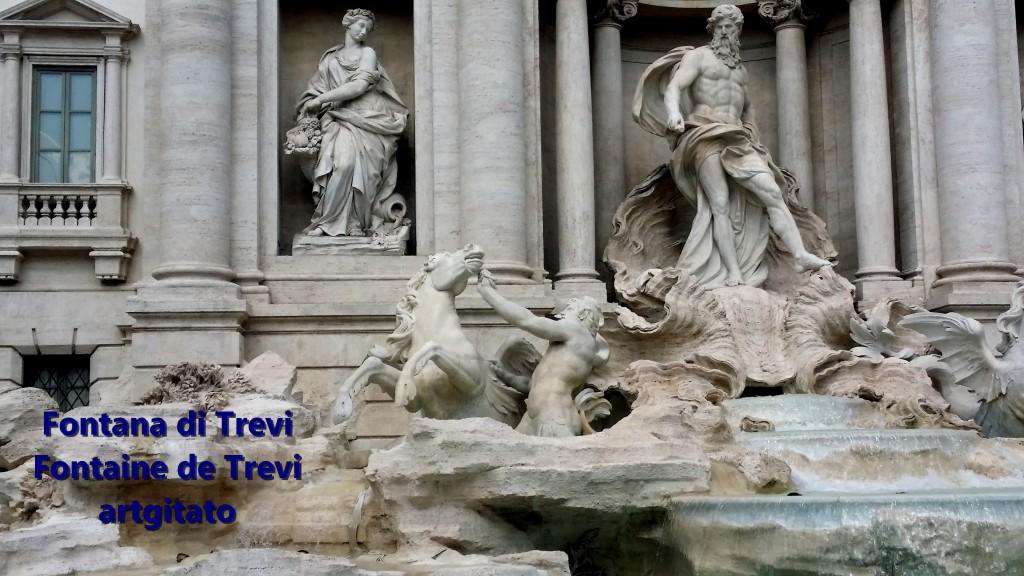 Fontana di Trevi Fontaine de Trevi artgitato 10