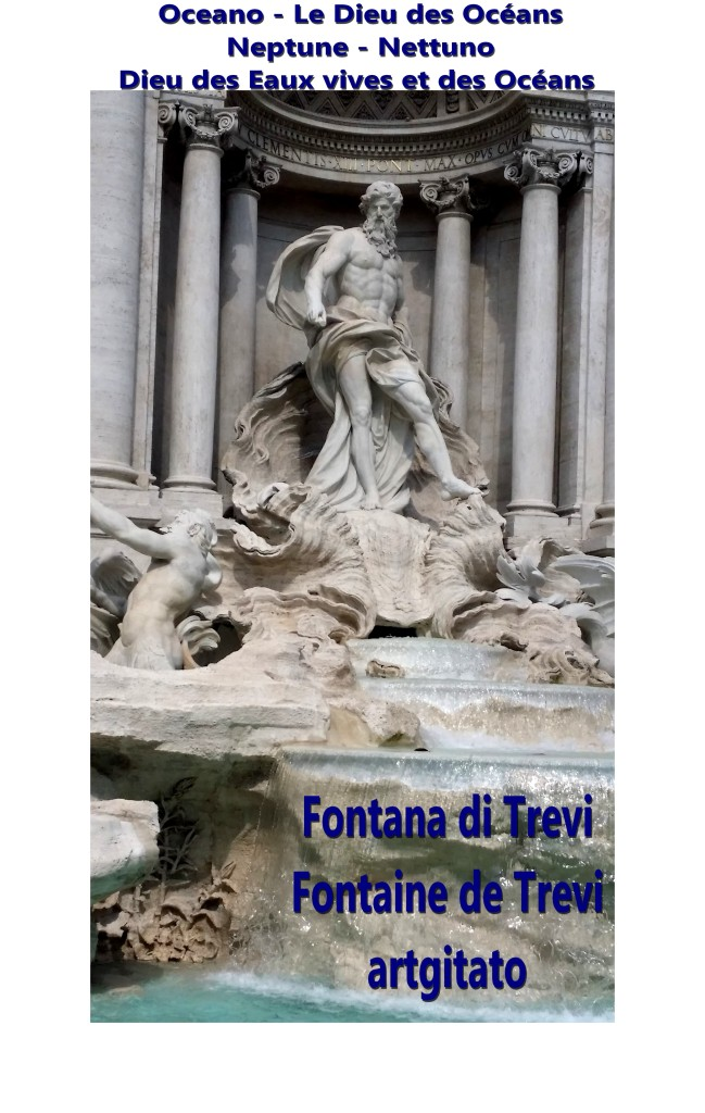 Fontana di Trevi Fontaine de Trevi artgitato 11