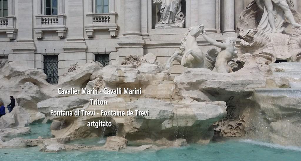 Fontana di Trevi Fontaine de Trevi artgitato 13