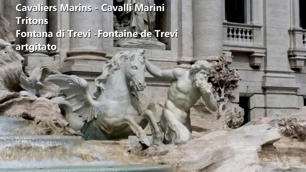 Fontana di Trevi Fontaine de Trevi artgitato 14