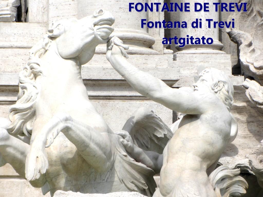 Fontana di Trevi Fontaine de Trevi artgitato 3