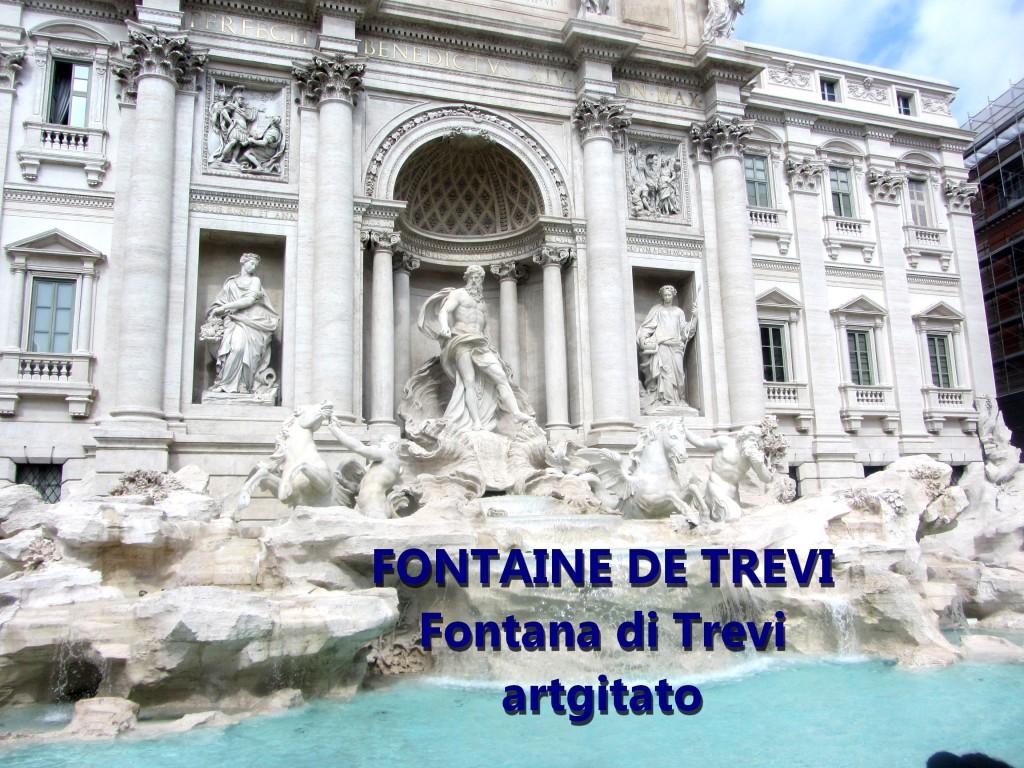 Fontana di Trevi Fontaine de Trevi artgitato 5