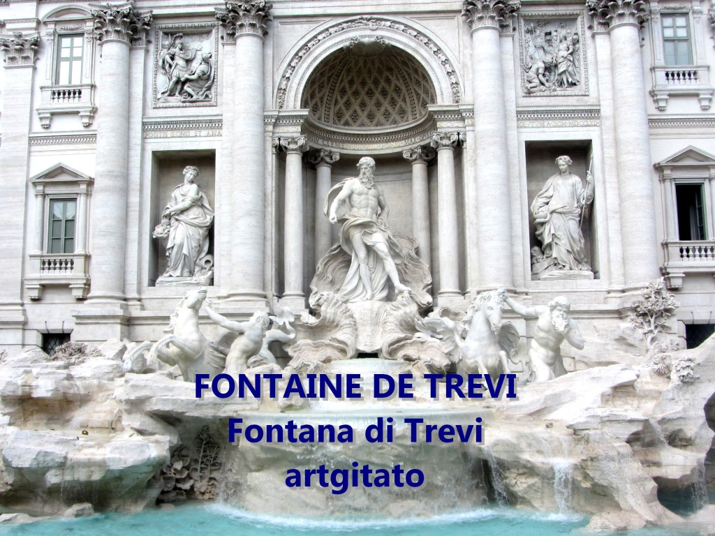 Fontana di Trevi Fontaine de Trevi artgitato 6