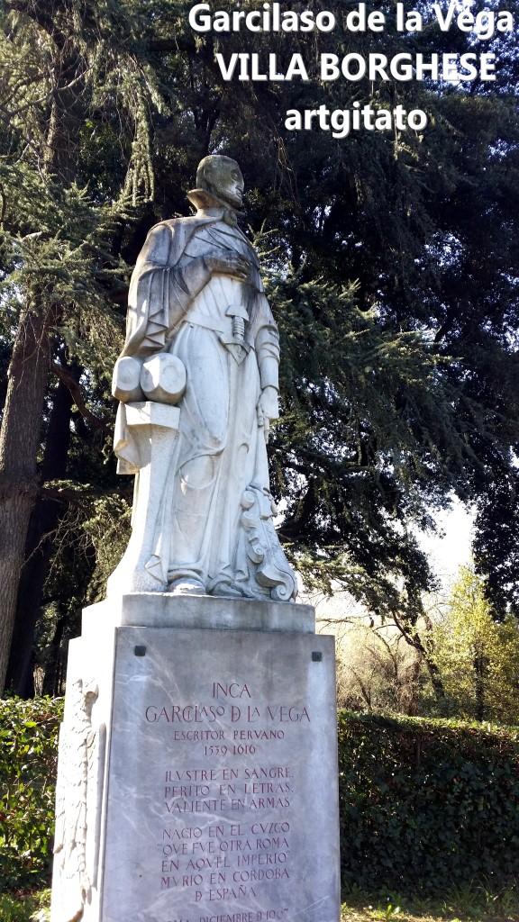 Garcilaso de la vega artgitato villa borghese roma rome 2