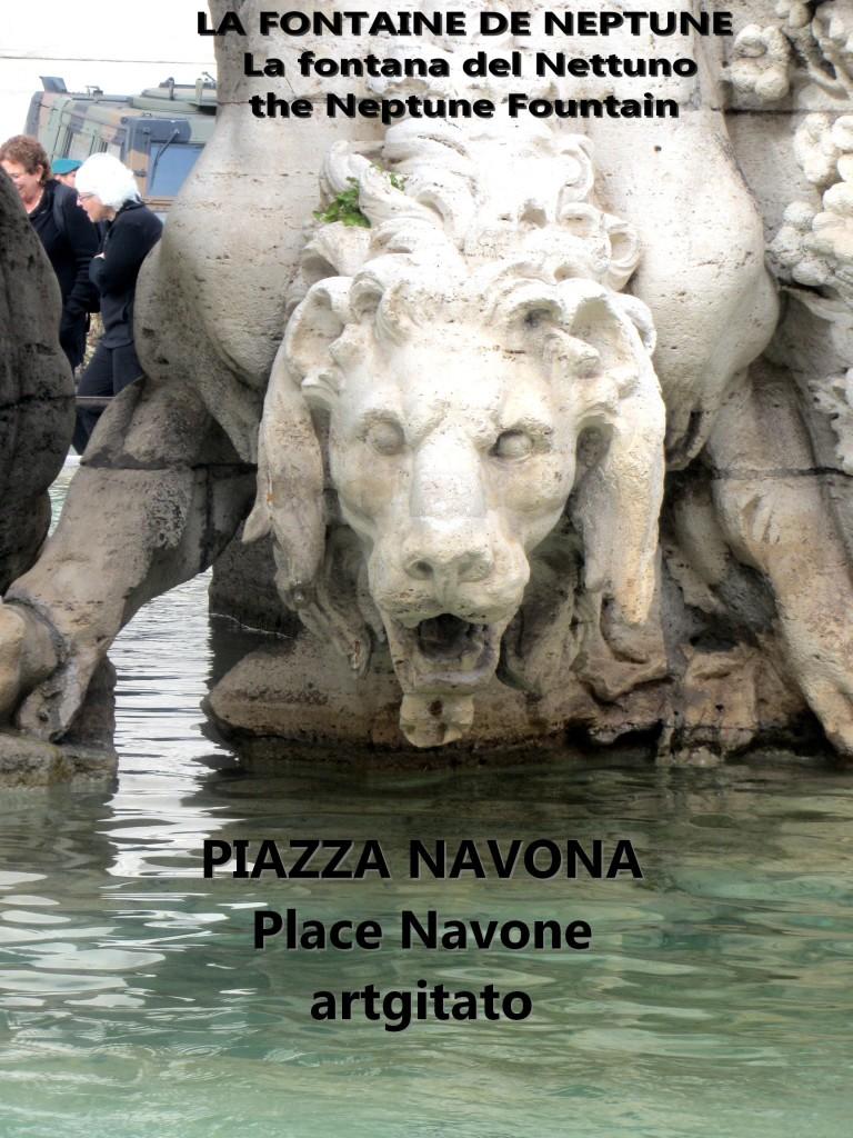 LA FONTAINE DE NEPTUNE Piazza Navona Place Navone Rome Roma artgitato 33