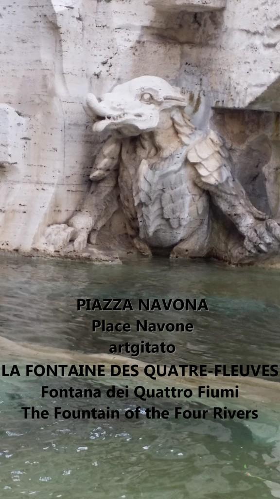 LA FONTAINE DES QUATRE-FLEUVES Piazza Navona Place Navone Rome Roma artgitato 11
