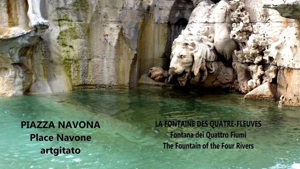 LA FONTAINE DES QUATRE-FLEUVES Piazza Navona Place Navone Rome Roma artgitato 13