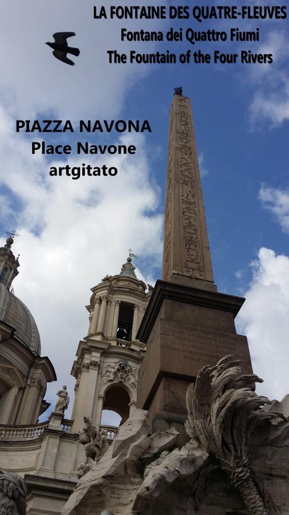 LA FONTAINE DES QUATRE-FLEUVES Piazza Navona Place Navone Rome Roma artgitato 15