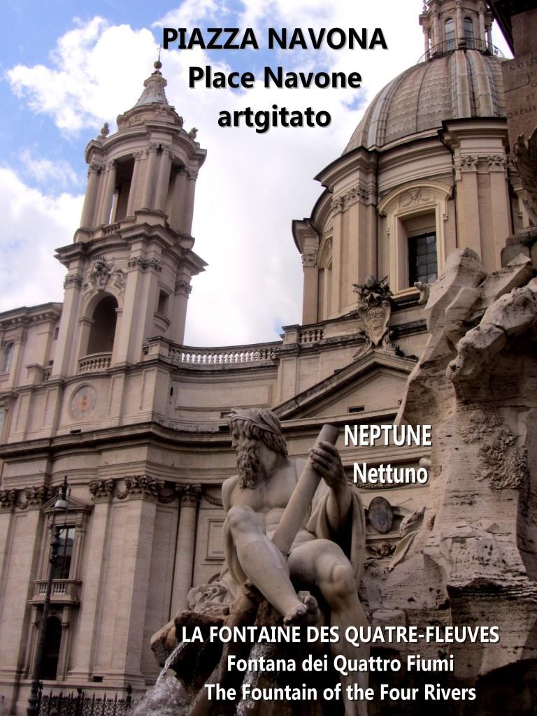LA FONTAINE DES QUATRE-FLEUVES Piazza Navona Place Navone Rome Roma artgitato 32