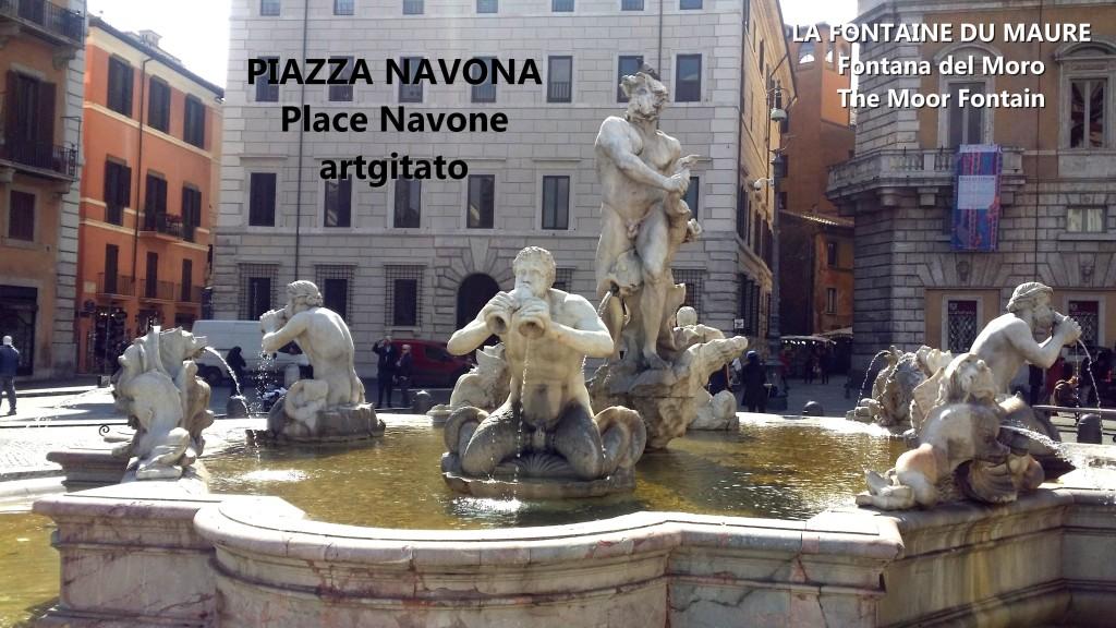 LA FONTAINE DU MAURE Piazza Navona Place Navone Rome Roma artgitato 25