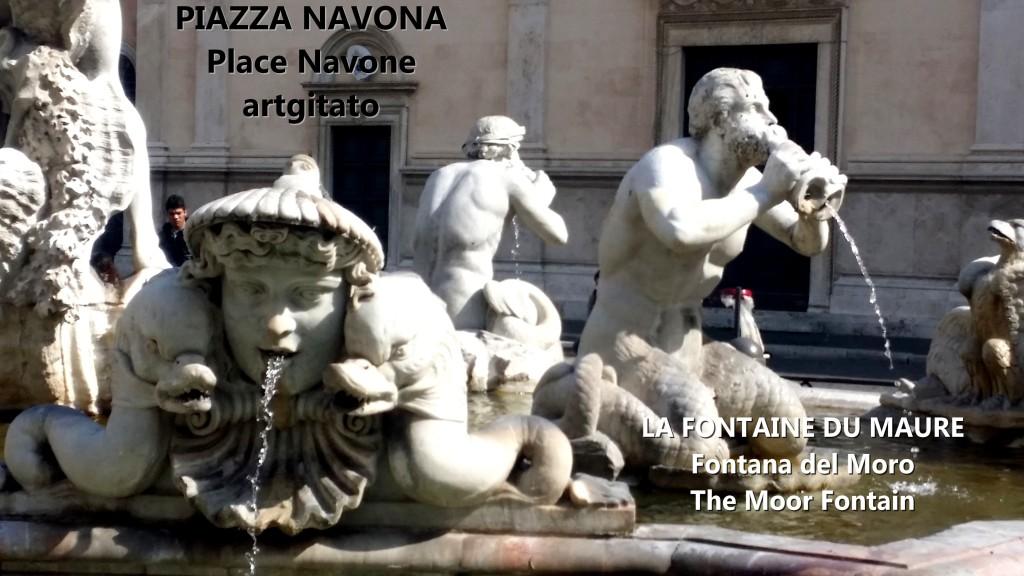 LA FONTAINE DU MAURE Piazza Navona Place Navone Rome Roma artgitato 35