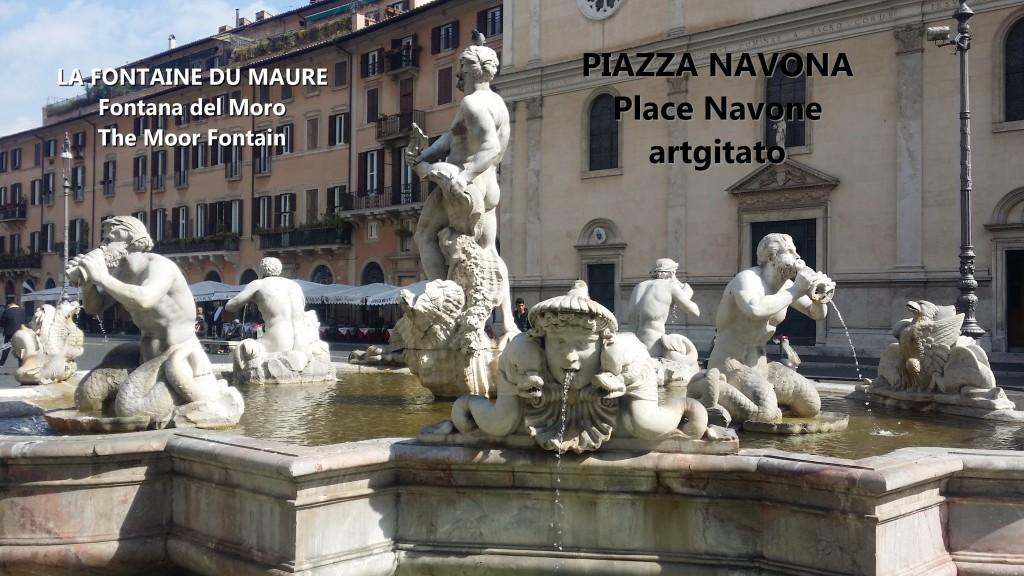 LA FONTAINE DU MAURE Piazza Navona Place Navone Rome Roma artgitato 36
